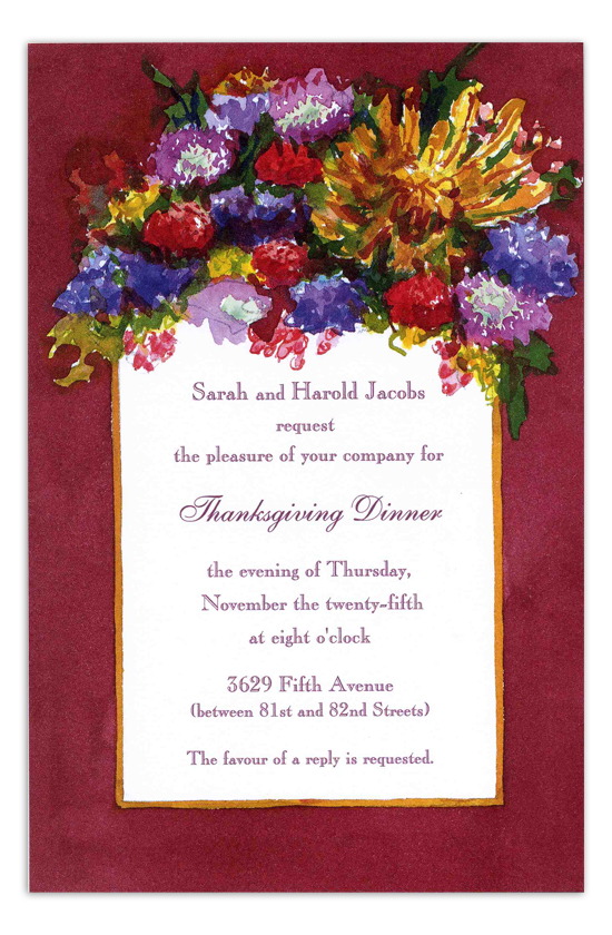 Russet Bouquet Invitation