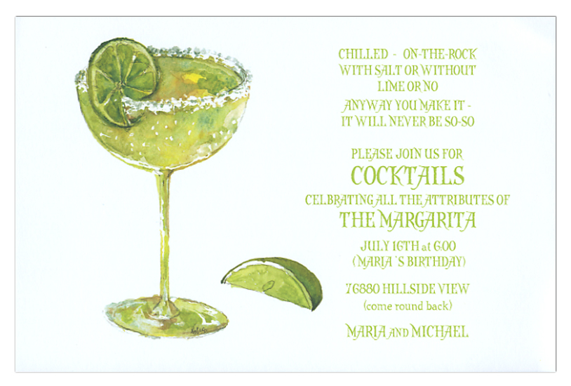 Salt and Lime Invitation