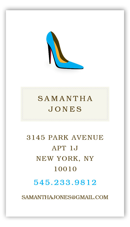 Samantha High Heel Calling Card