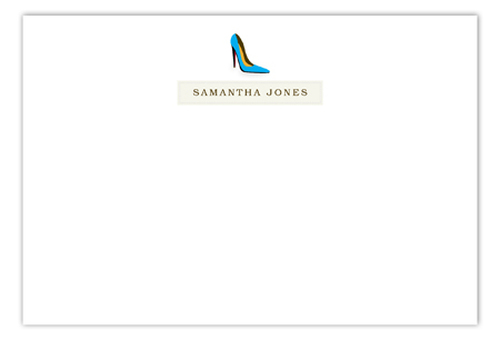 Samantha High Heel Flat Note Card