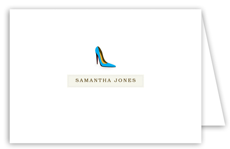 Samantha High Heel Note Card