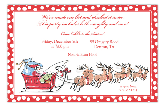 Santa Sleigh Invitation