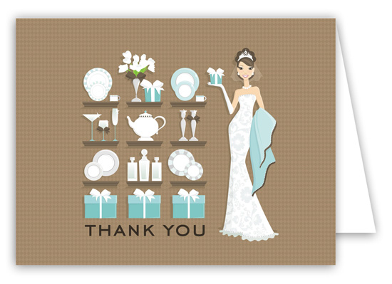 Sassy Bridal Registry Thank You Card