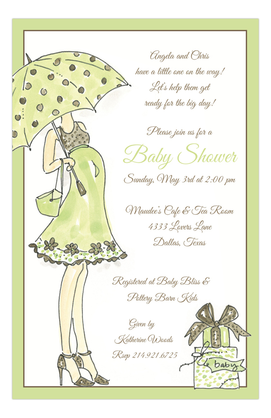 Sassy Momma Green Invitation
