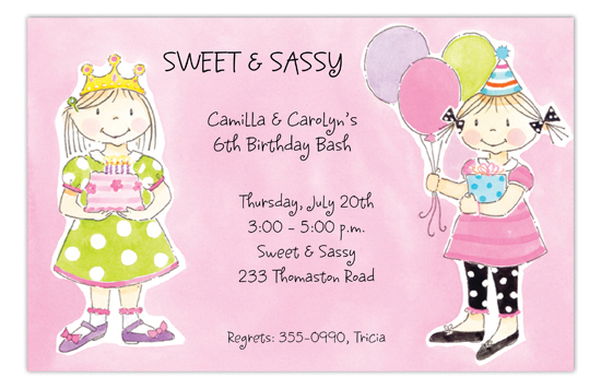 Sassy Party Girls Invitation
