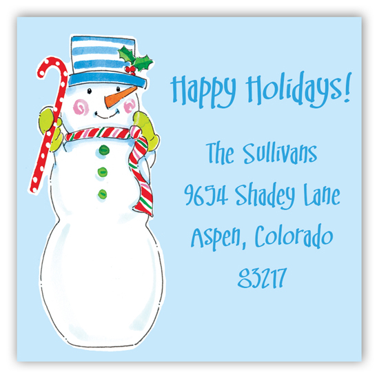 Sassy Snowmen Square Sticker