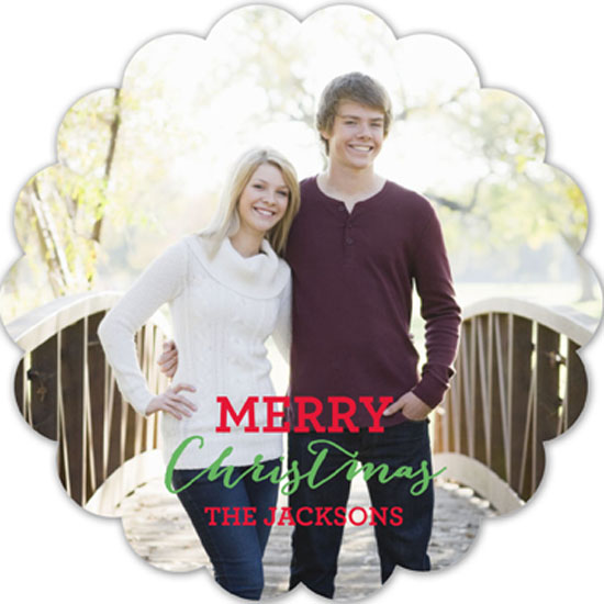 Scallop Christmas Tree Photo Card