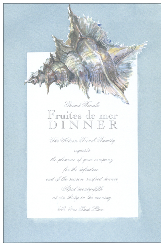 Sea Shell Invitation