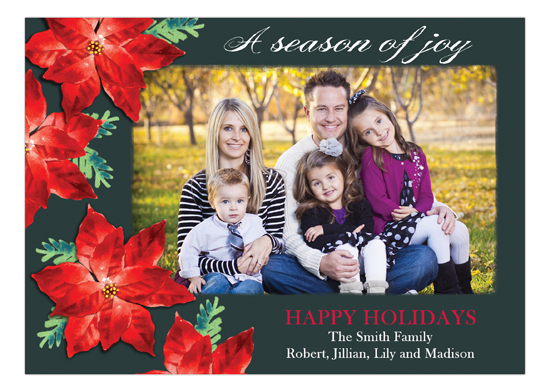 Season Of Poinsettias Photo Card