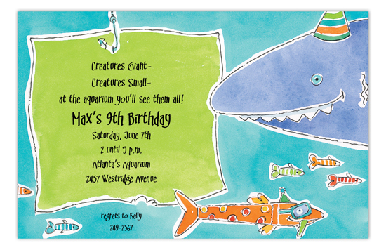 Shark Waters Invitation