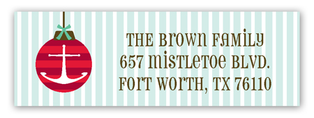 Ships Ahoy Holiday Address Label