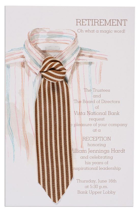 Shirt and Tie Invitation