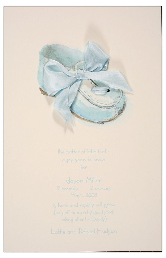 Shoe Blue Invitation