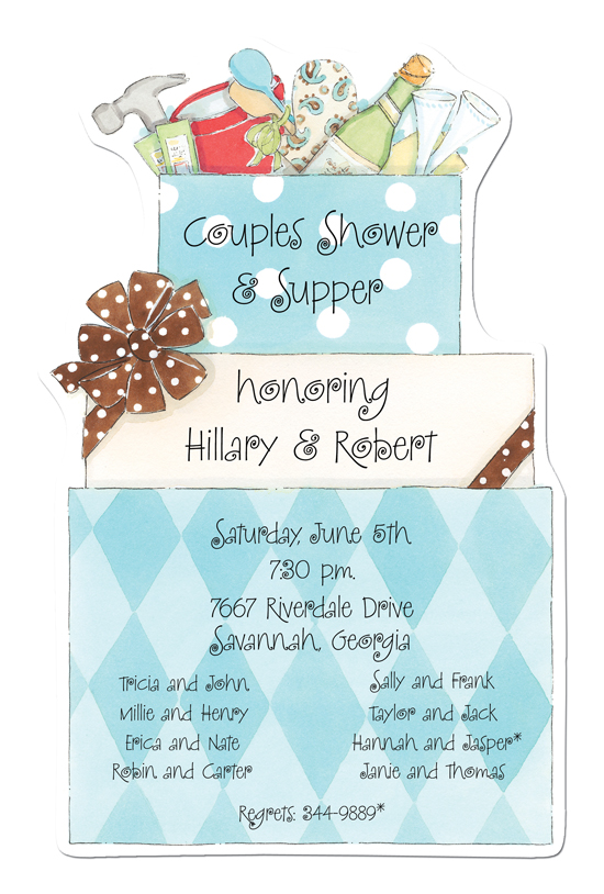 Shower Die-cut Invitation