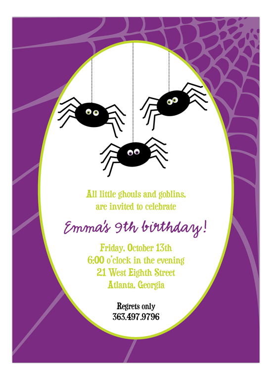 Silly Spiders Invitation