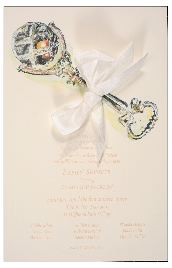 Silver Rattle Invitation