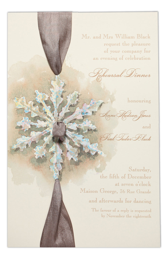 Silver Snowflake Invitation