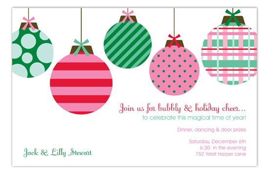 Simple Ornaments Invitation