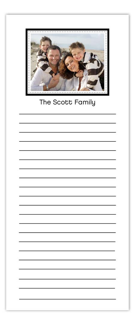 Simply Black Photo Notepad