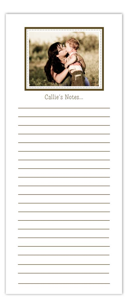 Simply Brown Photo Notepad