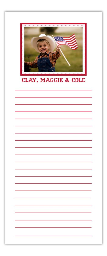 Simply Red Photo Notepad