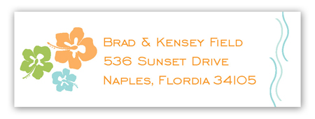 Simply Tropic Address Label