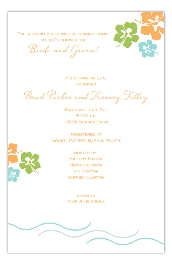 Simply Tropic Invitation