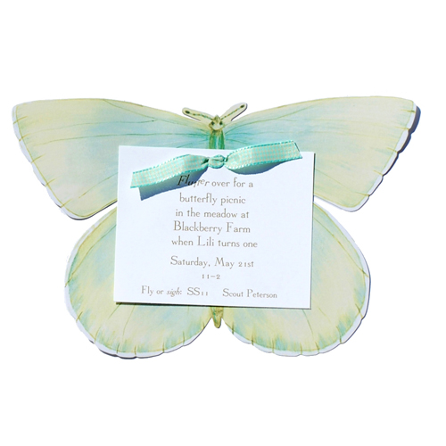 Blue Butterfly Invitation