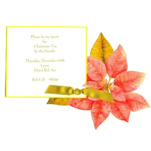 Die-Cut Poinsettia Invitation