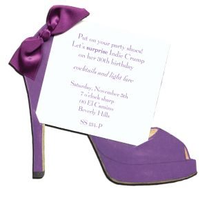 Purple High Heel Invitation