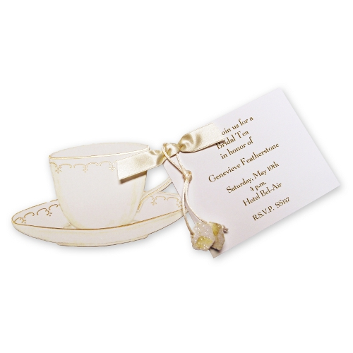 Teacup Invitation Cute Tea Party Invitations