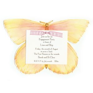Pink Butterfly Invitation