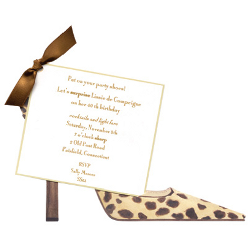 Leopard Shoe Invitation