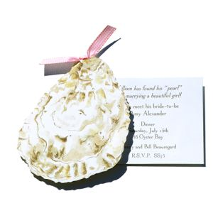 Oyster with Pearl Invitation