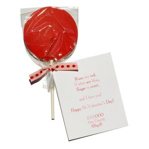 Red Lollipop Invitation