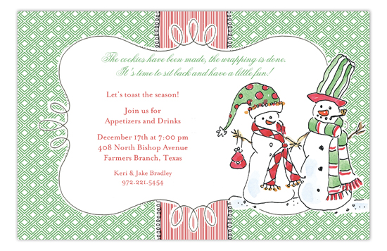 Snow Couple Invitation