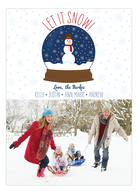 Snow Globe Fun Photo Card