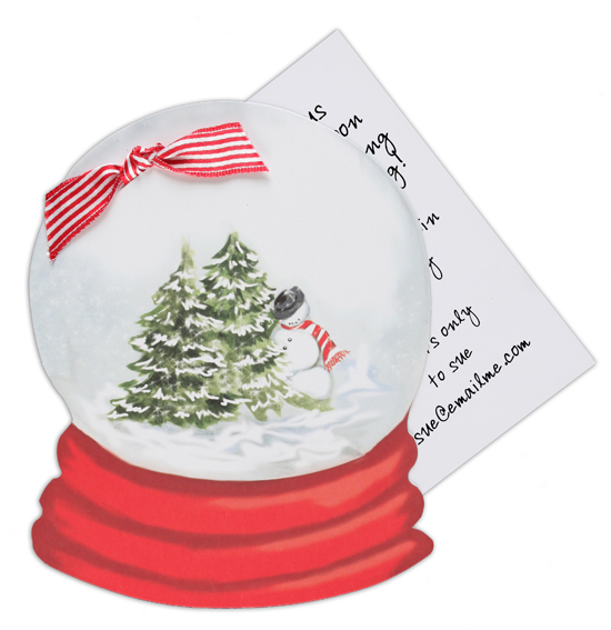 Snow Globe Invitation