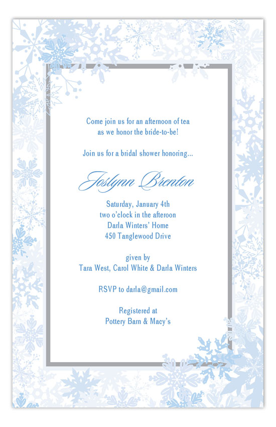 Snow Wonder Invitation