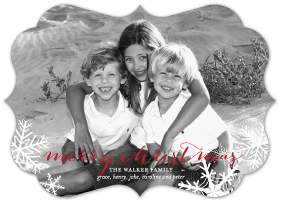 Snowy Christmas Photo Card