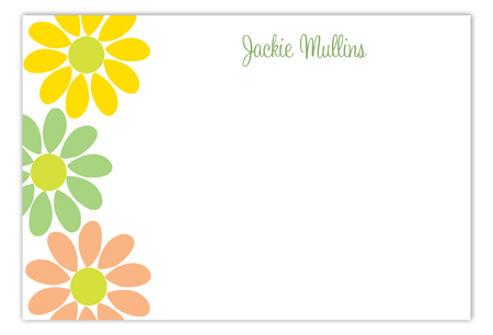 Soft Daisy Flat Note Card