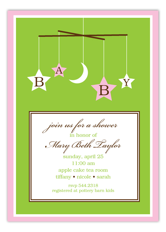 Soft Pink Mobile Invitation