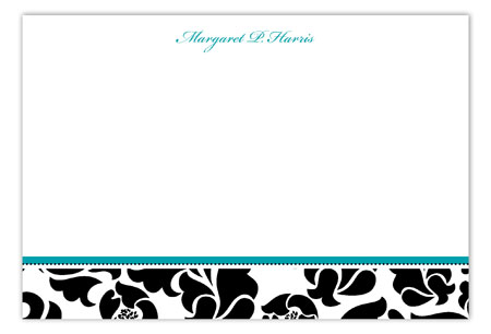 Sophisticated Fifty Flat Note Card