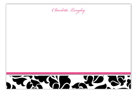 Sophisticated Forty Flat Note Card