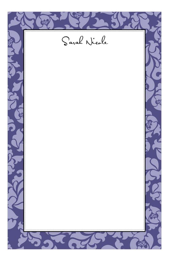 Sophisticated Purple Notepad