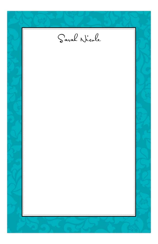 Sophisticated Teal Notepad