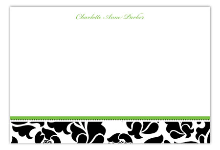 Sophisticated Thirty Flat Note Card
