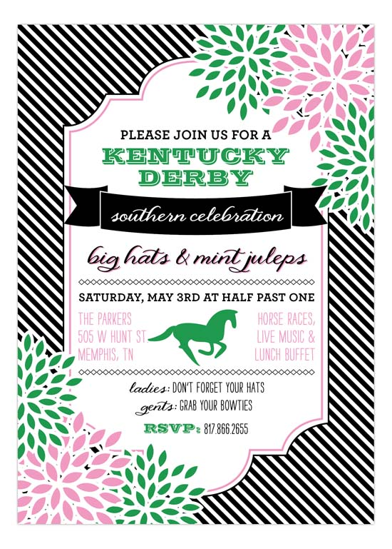Southern Charm Derby Invitation