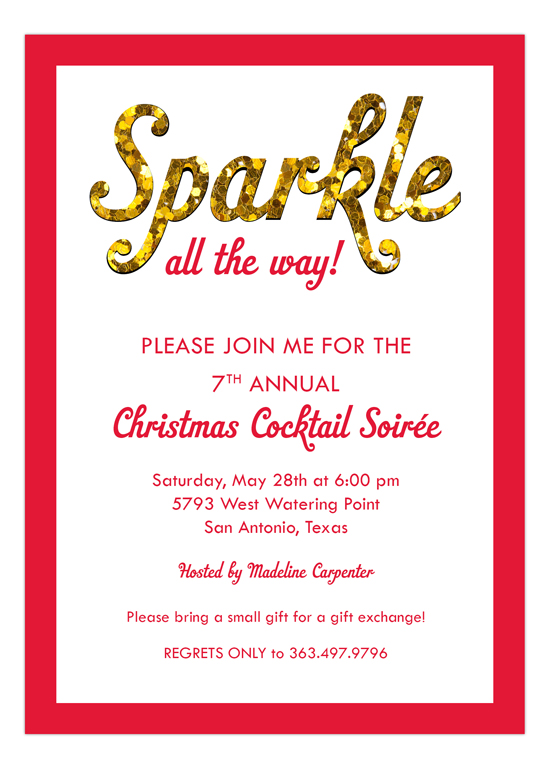 Sparkle All The Way Invitation
