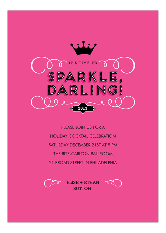 Sparkle, Darling Invitation